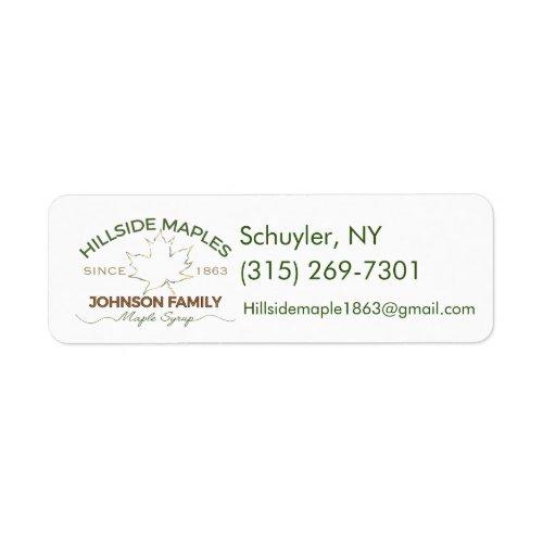 Hillside Maple Stickers