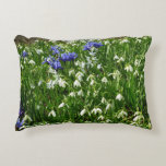 Hillside of Early Spring Flowers I Decorative Pillow