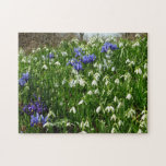 Hillside of Early Spring Flowers I Jigsaw Puzzle