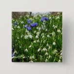 Hillside of Early Spring Flowers I Pinback Button