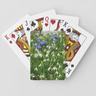 Hillside of Early Spring Flowers I Poker Deck