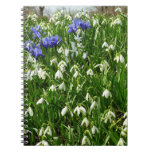 Hillside of Early Spring Flowers I Spiral Notebook