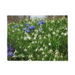 Hillside of Early Spring Flowers Landscape Doormat