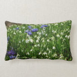 Hillside of Early Spring Flowers Landscape Lumbar Pillow