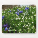 Hillside of Early Spring Flowers Landscape Mouse Pad
