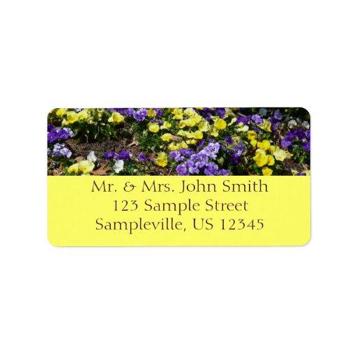 Hillside of Pansies Return Address Label