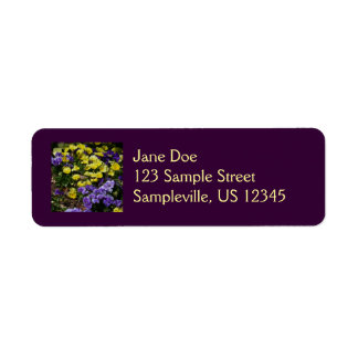 Hillside of Pansies Return Address Label