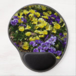 Hillside of Purple and Yellow Pansies Gel Mouse Pad