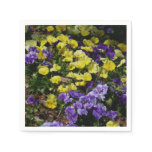 Hillside of Purple and Yellow Pansies Napkin