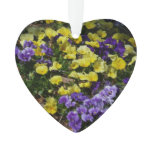 Hillside of Purple and Yellow Pansies Ornament