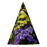 Hillside of Purple and Yellow Pansies Party Hat