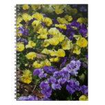 Hillside of Purple and Yellow Pansies Spiral Notebook