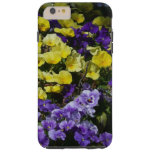 Hillside of Purple and Yellow Pansies Tough iPhone 6 Plus Case