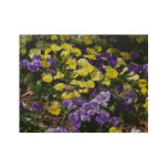 Hillside of Purple and Yellow Pansies Wood Poster
