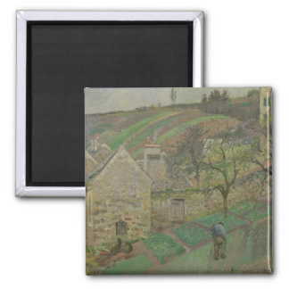Hillside of the Hermitage, Pontoise, 1873 2 Inch Square Magnet