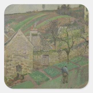 Hillside of the Hermitage, Pontoise, 1873 Square Sticker