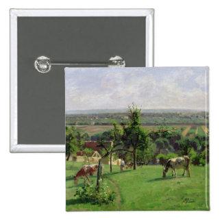 Hillside of Vesinet, Yvelines, 1871 Buttons