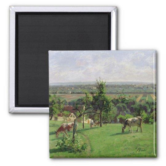 Hillside of Vesinet, Yvelines, 1871 Magnet