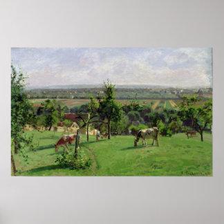 Hillside of Vesinet, Yvelines, 1871 Poster