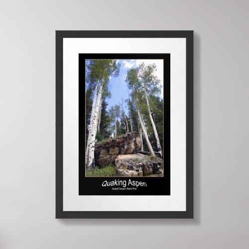 Hillside Quaking Aspen & Unearthed Boulders print