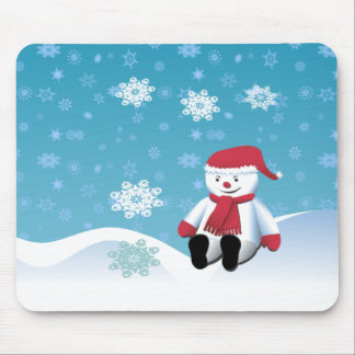 Hillside Snowman Mouse Pads