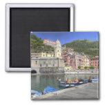 Hillside town of Vernazza, Cinque Terre, Liguria 2 Inch Square Magnet