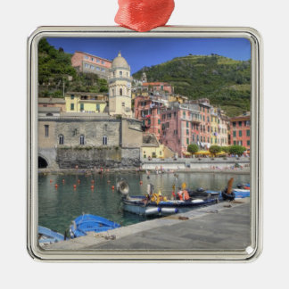 Hillside town of Vernazza, Cinque Terre, Liguria Metal Ornament