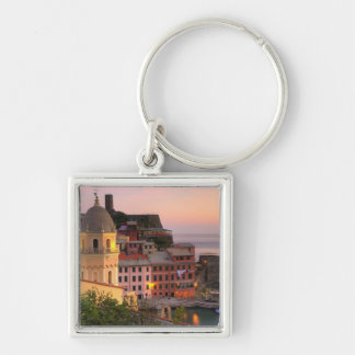 Hillside town of Vernazza in the evening, Cinque Keychain
