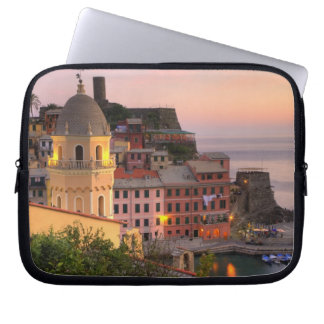 Hillside town of Vernazza in the evening, Cinque Computer Sleeves
