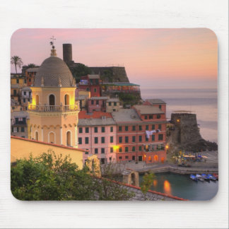 Hillside town of Vernazza in the evening, Cinque Mouse Pad