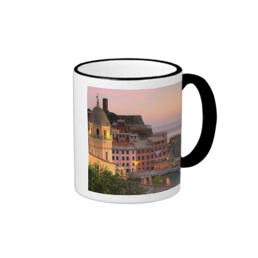 Hillside town of Vernazza in the evening, Cinque Mug