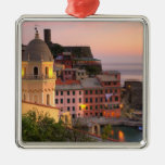 Hillside town of Vernazza in the evening, Cinque Christmas Tree Ornaments
