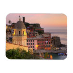 Hillside town of Vernazza in the evening, Cinque Rectangle Magnets