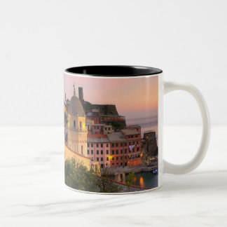 Hillside town of Vernazza in the evening, Cinque Two-Tone Coffee Mug