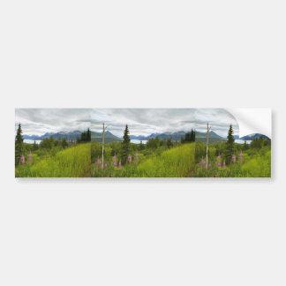 Hillside with Fireweed Car Bumper Sticker