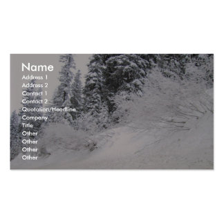 Hillside With Pine Trees Covered With Snow Double-Sided Standard Business Cards (Pack Of 100)