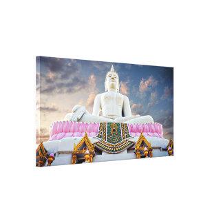 Hilltop Buddha with Dramatic sky Canvas Print