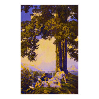 Hilltop, by Maxfield Parrish Poster