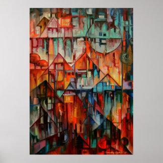 Hilltop Houses - Canvas Print