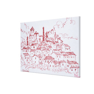 Hilltop Town of Callian | South of France Canvas Print