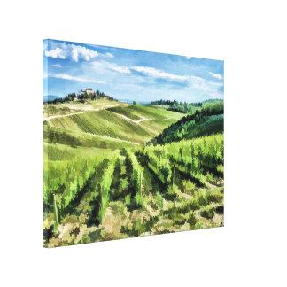 Hilltop Vineyard Canvas Print