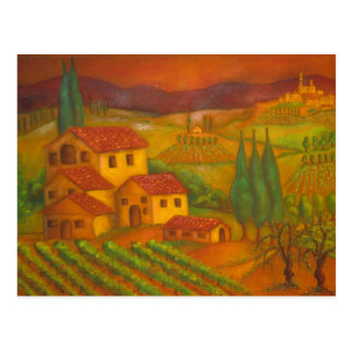 Hilltown in Chianti, Italy Post Card