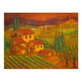 Hilltown in Chianti, Italy Postcard