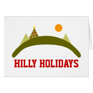 HILLY HOLIDAYS CARD