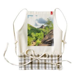 Hilly landscape zazzle HEART apron