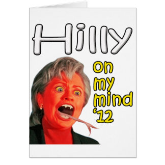 Hilly on my mind card
