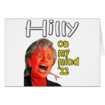 Hilly on my mind greeting card