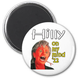 Hilly on my mind 2 inch round magnet