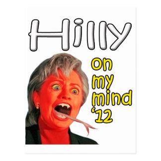 Hilly on my mind postcard