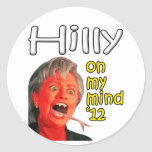 Hilly on my mind round stickers